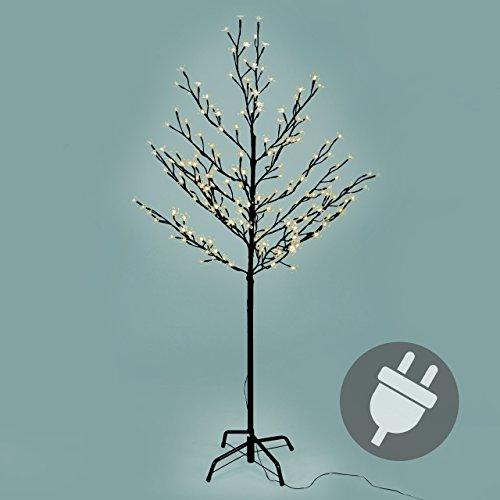 Weihnachtsbeleuchtung Led Baum.200 Led Baum Mit Blüten Blütenbaum Lichterbaum Warm Weiß 150 Cm Hoch Trafo Ip44 Weihnachtsbeleuchtung Außenbeleuchtung Xmas Gartendeko