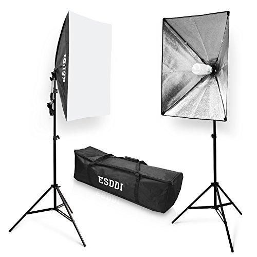 Fotostudio Beleuchtung | Softbox Dauerlicht Studioleuchte Esddi Softboxen 2er Set Studio